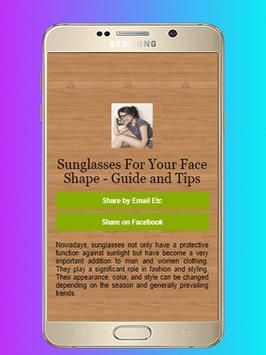 Sunglasses For Your Face Shape - Guide and Tips screenshot 4