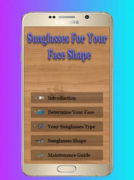 Sunglasses For Your Face Shape - Guide and Tips poster