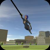 Menginstal Game android antagonis Super Rope Girl   2 APK