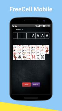 FreeCell Mobile Game screenshot 1