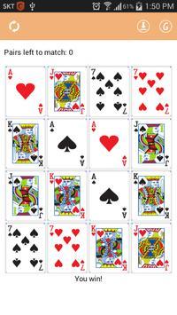 Memory Card Matching Game apk screenshot