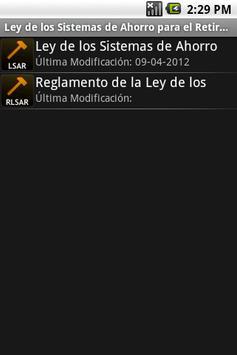 Ley del SAR apk screenshot