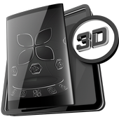 Soft Touch Black theme for Next Launcher icon