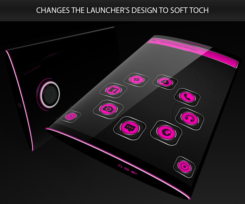 Soft Touch Pink Theme poster