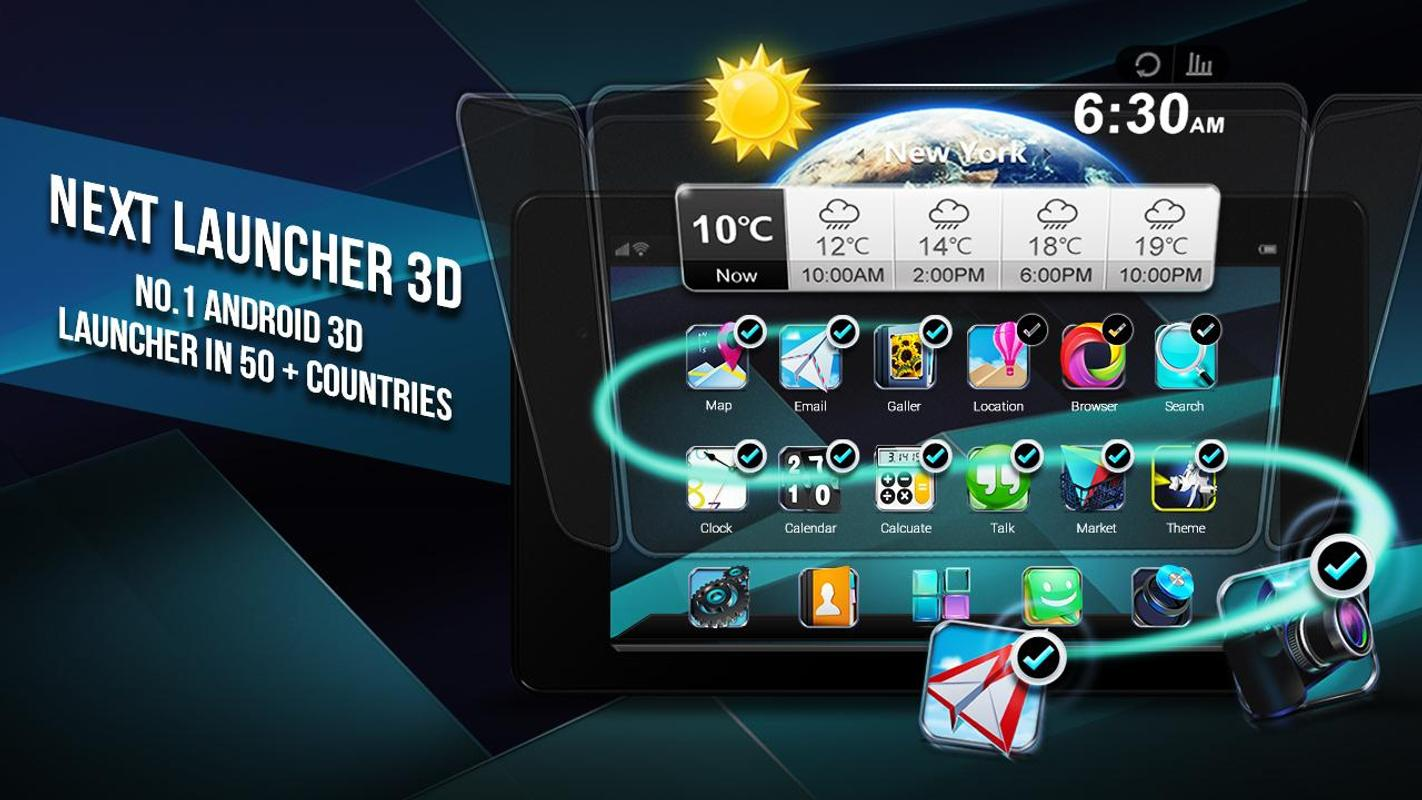 Next Launcher 3D Shell Lite For Android