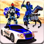 US police Robot Transform Horse game icon
