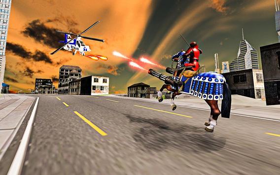 US police Robot Transform Horse game screenshot 6