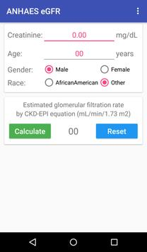 ANHAES eGFR calculator apk screenshot