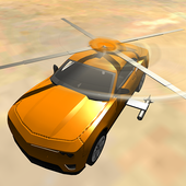 Flying Muscle Helicopter Car icon