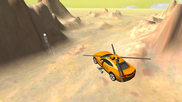 Flying Muscle Helicopter Car poster