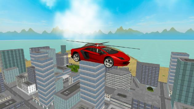 Flying  Helicopter Car 3D Free poster