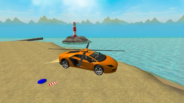 Flying  Helicopter Car 3D Free apk screenshot