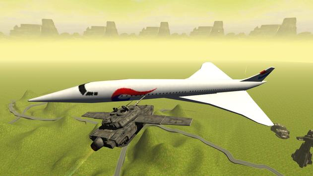 Flying Battle Tank Simulator apk screenshot