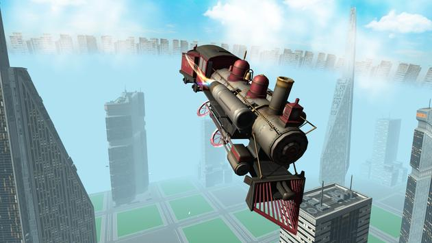 Flying Train Simulator 3D Free apk screenshot