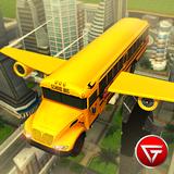 Flying School Bus Simulator 3D: Extreme Tracks