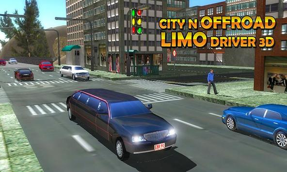 Limo in Traffic: Offroad Driving simulator Game poster