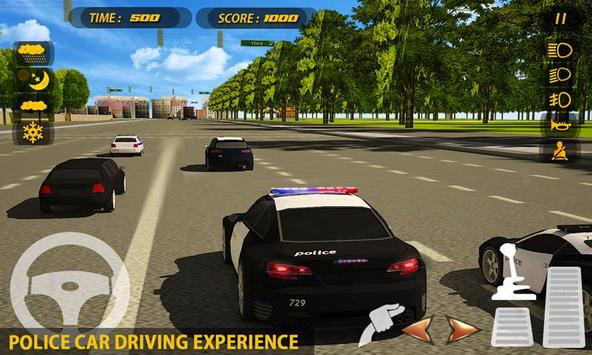 City Police Car Driving School poster