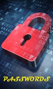 Passwords poster