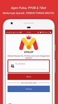 MyKLOP : Agen Pulsa, PPOB & Tiket  Termurah screenshot 2