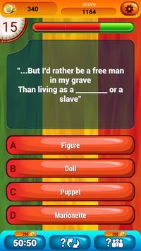 Guess The Lyrics Reggae Quiz apk screenshot