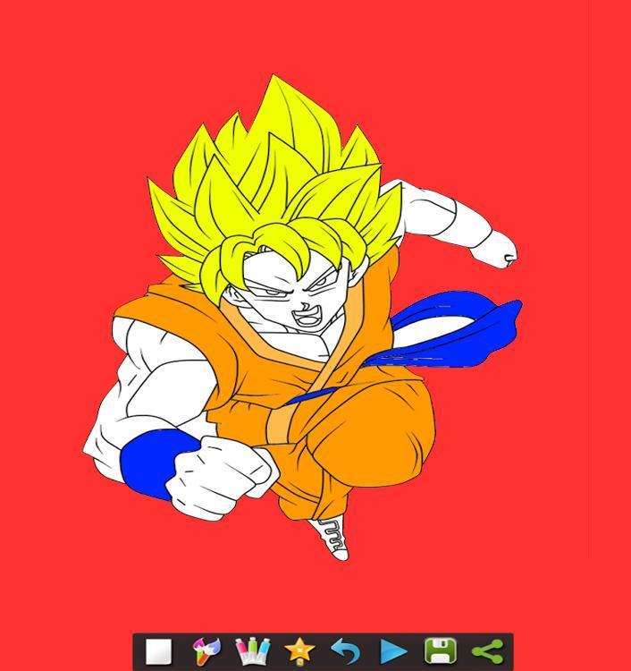 Coloring DBS Dragon Book poster