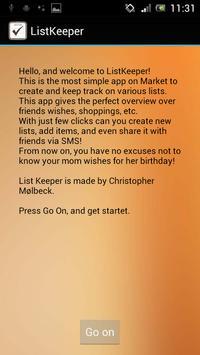 List Keeper poster