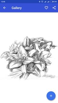 Drawing Flower with Pencil apk screenshot
