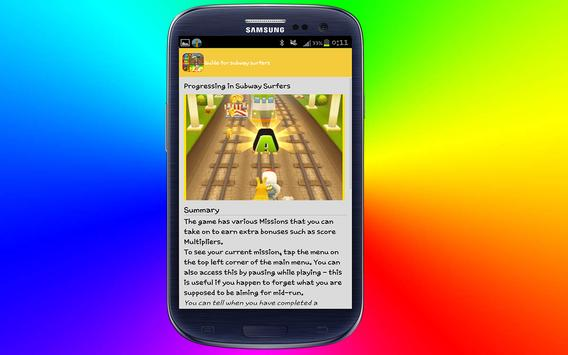 guide for subway surfers 2016 poster