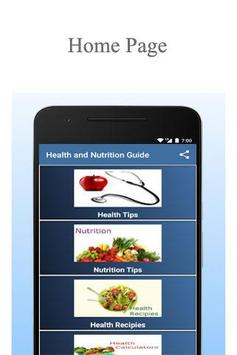 Health and Nutrition Guide poster