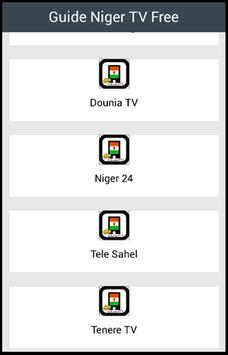 Guide Niger TV Free poster