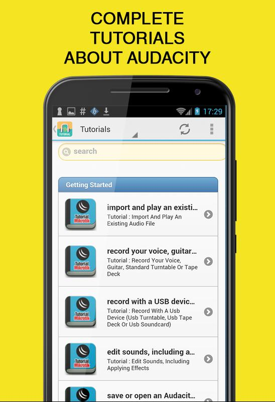 download audacity for android