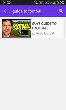 GUIDE TO FOOTBALL apk screenshot