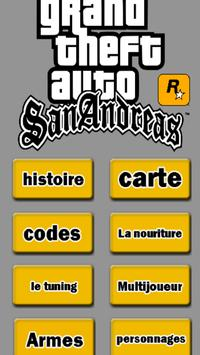 Guide pour GTA San Andreas poster
