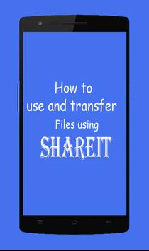 Guide SHAREit File large Transfer poster