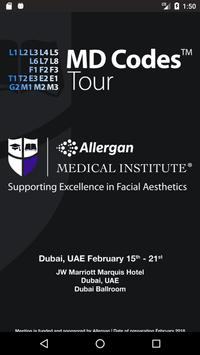 MD CODES Tour Allergan DUBAI poster
