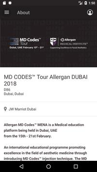 MD CODES Tour Allergan DUBAI apk screenshot