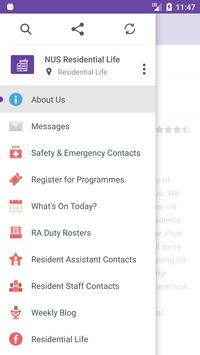 NUS Residential Life apk screenshot