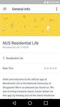 NUS Residential Life apk screenshot