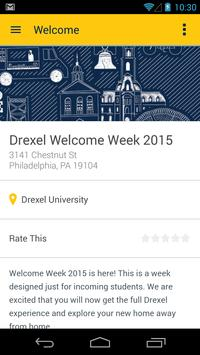 Drexel Univ. Welcome Guide poster