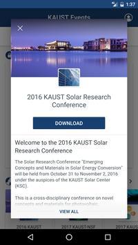 KAUST Events apk screenshot