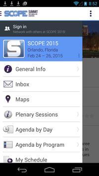 SCOPE Summit 2015 poster