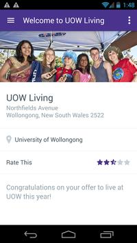 UOW Living App screenshot 2