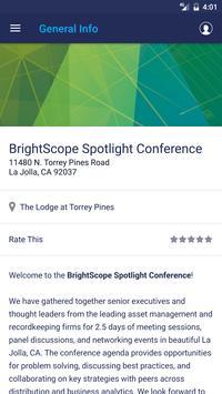 BrightScope Spotlight Conf. screenshot 2