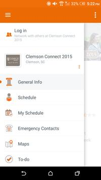 Clemson University Events apk screenshot