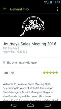 Journeys Sales Meeting poster