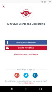 KFC UK&I Events and Onboarding apk screenshot