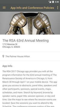 The RSA 63rd Annual Meeting apk screenshot