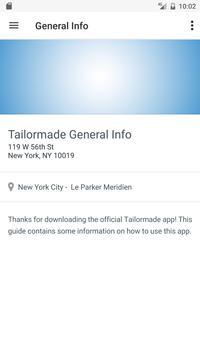 Tailormade Events apk screenshot