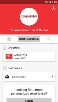 Thermo Fisher Event Center screenshot 1