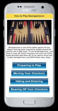 How To Play Backgammon poster